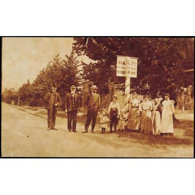 Der Grenzübergang Denekamp bei Nordhorn um 1900